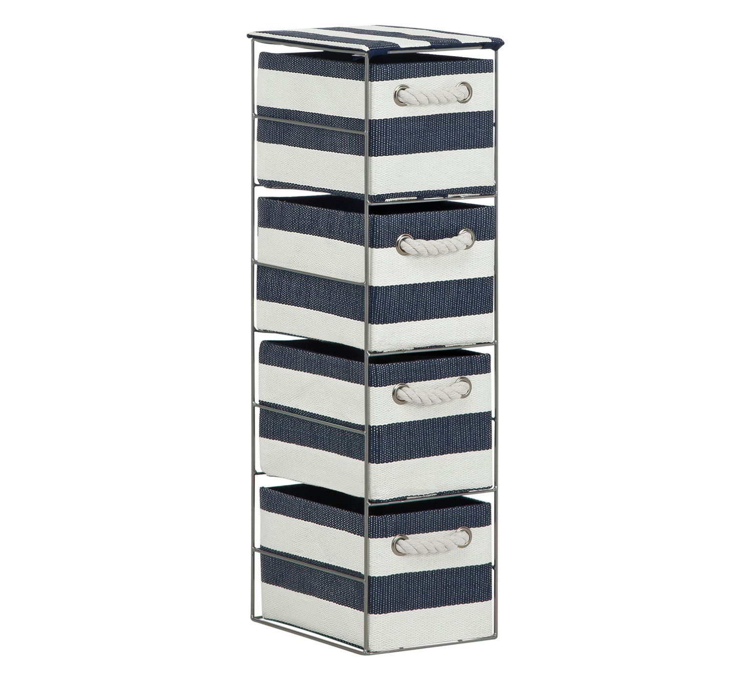 Buy Argos Home Tall 11 Drawer Storage Tower - Blue and White