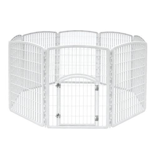 Iris White Eight Panel Pet Containment Pen With DoorIf You Have A Small  Puppy Who Would Love To Be Off Leash But Isnu0027t Quite Big Enough, The Iris  White ...