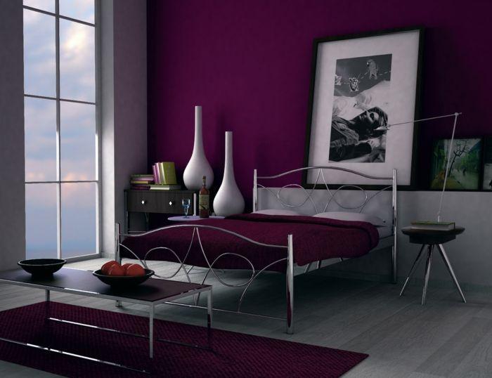 Wandfarbe Beere Wandfarbe Schlafzimmer Dekor Zimmer Farben