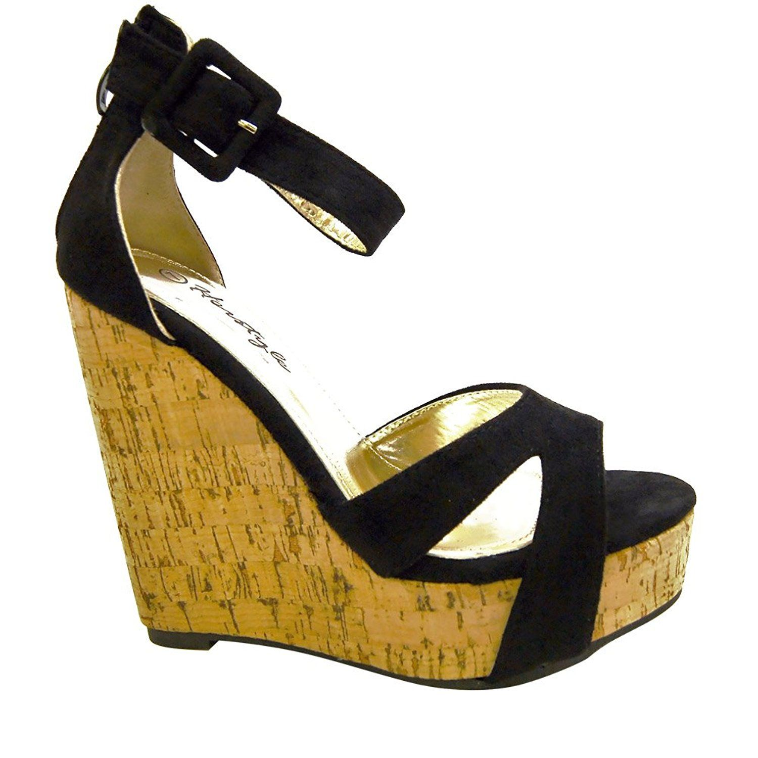 973997c7b08e04 HerStyle Women s Brenee 6-inch Cork Wedge with Bold Ankle Buckle    Check  out