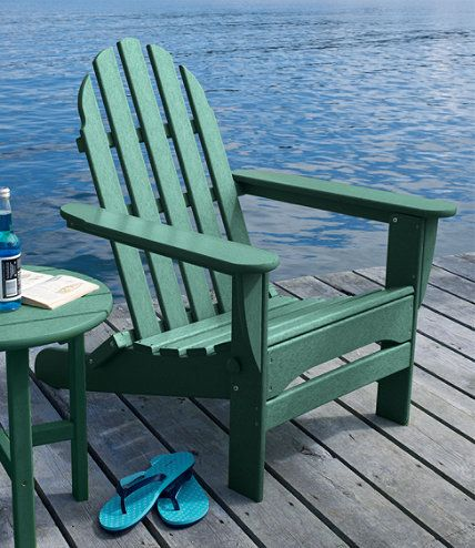 L.L.Bean All-Weather Adirondack Chair | L.L.Bean Green | Pinterest ...