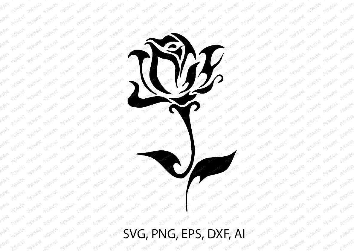 Rose Pattern Png Rose Print Svg Black Rose Eps Rose Template Vector Rose Clipart Svg Rose Tattoo Digital Black Rose Meaning Rose Clipart Stencil Patterns