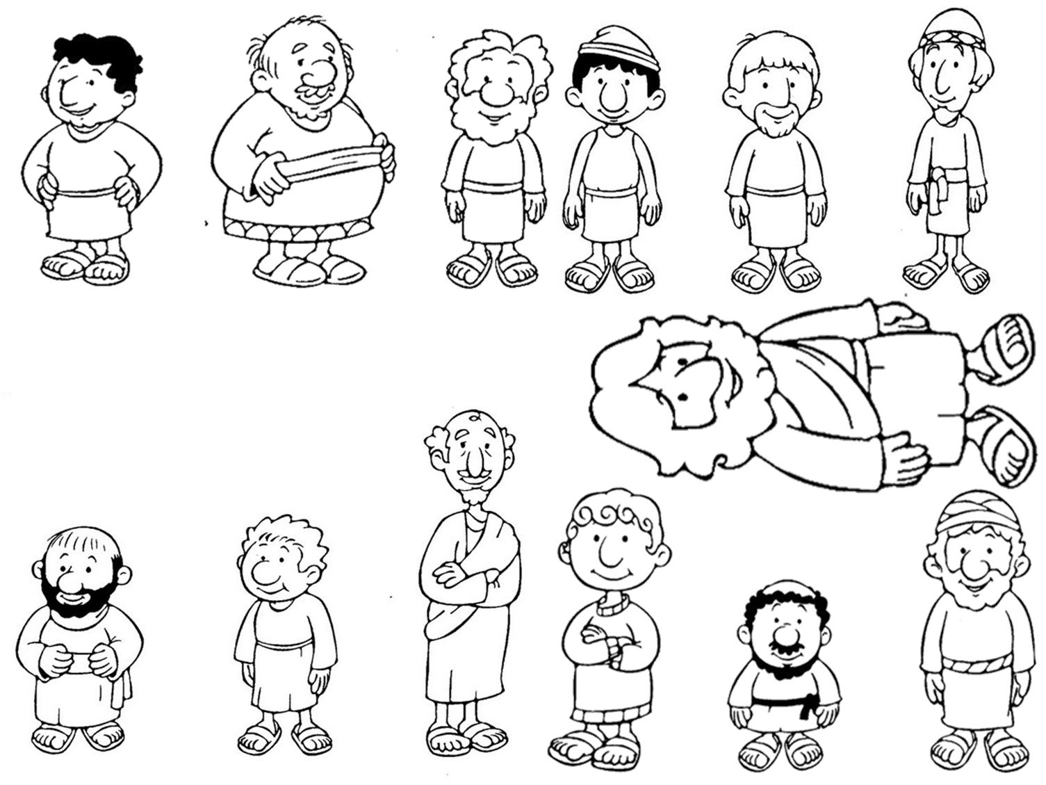 Jesus Calls Disciples Craft | Los Doce Discipulos Para Colorear ...
