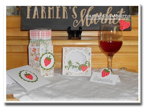 Burnsbury Handmade: Strawberry Social Gift