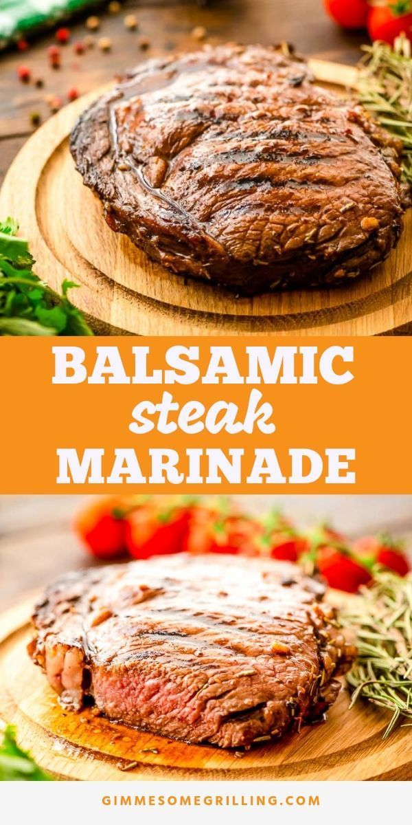 Balsamic Steak Marinade is an easy steak marinade recipe! Simply mix up the ingredients, which are pantry staples, place your steak in the marinade and let it marinade for at least two hours. Then grill it or cook it on the stove top! The result is a steak that's so juicy and delicious! #recipe #steak #grilledsteakmarinades