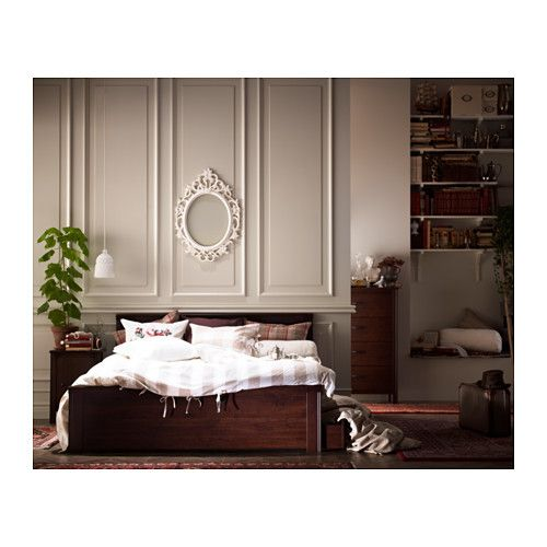 BRUSALI Bed Frame With 4 Storage Boxes   Standard Double, Luröy   IKEA 195  Pounds