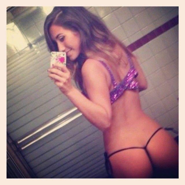 Sexy ass panties selfie