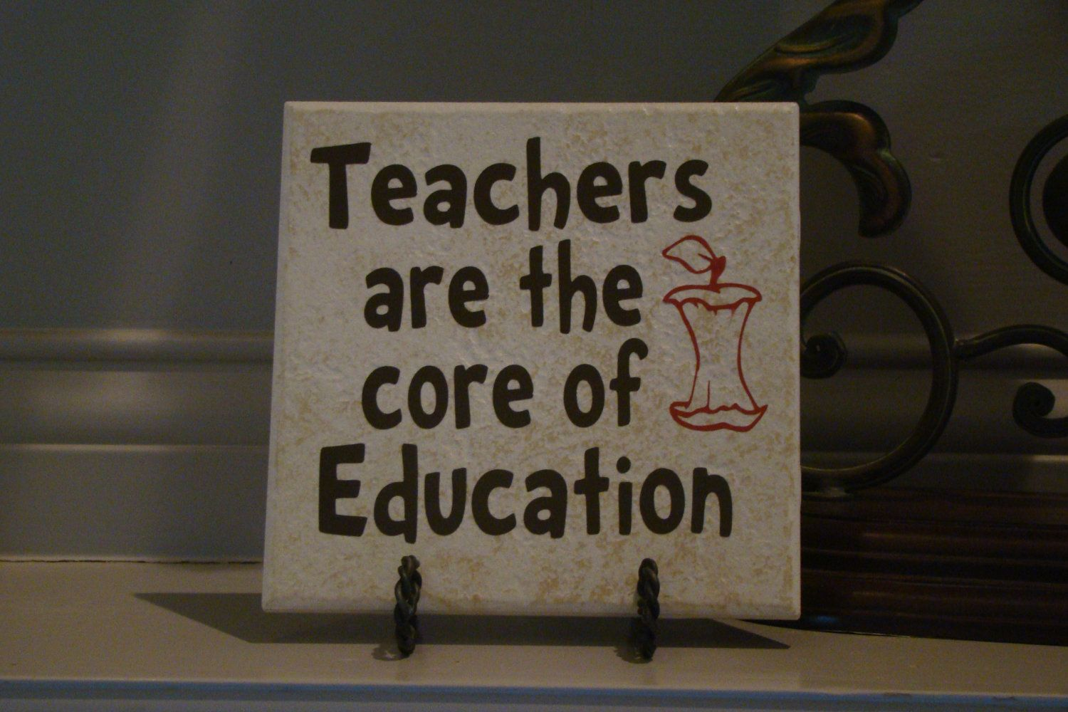 """Teacher Quotes: Teacher's Quote Vinyl Tile. $10.00, Via Etsy. Ties Right In With The Common """"Core"""" Standards"""