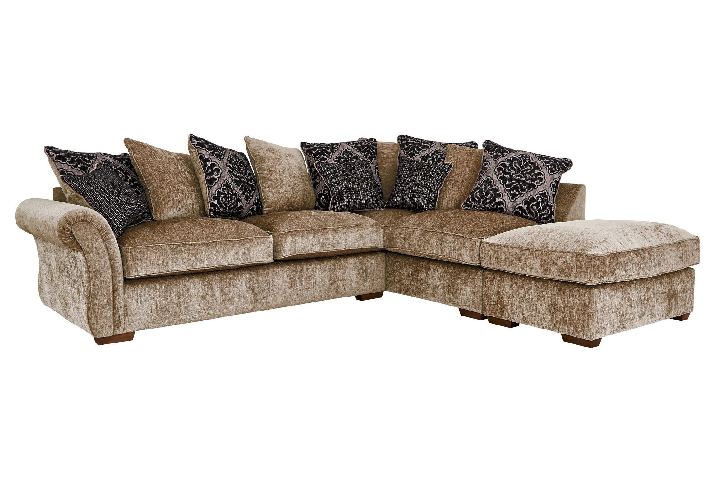Luxor Fabric Pillow Back Corner Sofa Corner Sofa Living Room Furniture Sofas Furniture Village