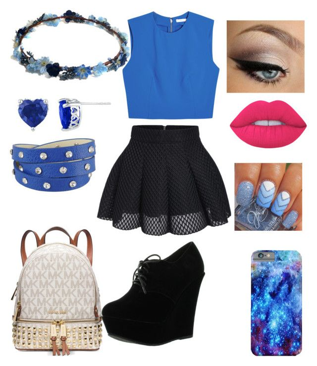 """First day at High School"" by sydelle-nicholas ❤ liked on Polyvore featuring Alice + Olivia, Michael Kors, Forever Link, Lime Crime and George J. Love"