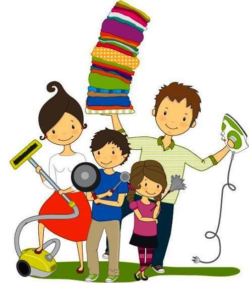 Ninos Responsables Familia Ilustracion Familia Dibujos Animados