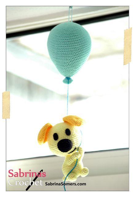 k Pip (van Woezel) aan een ballon! #haakpatroon http://www.freubelweb.nl/freubel-zelf/zelf-maken-met-haakkatoen-712/