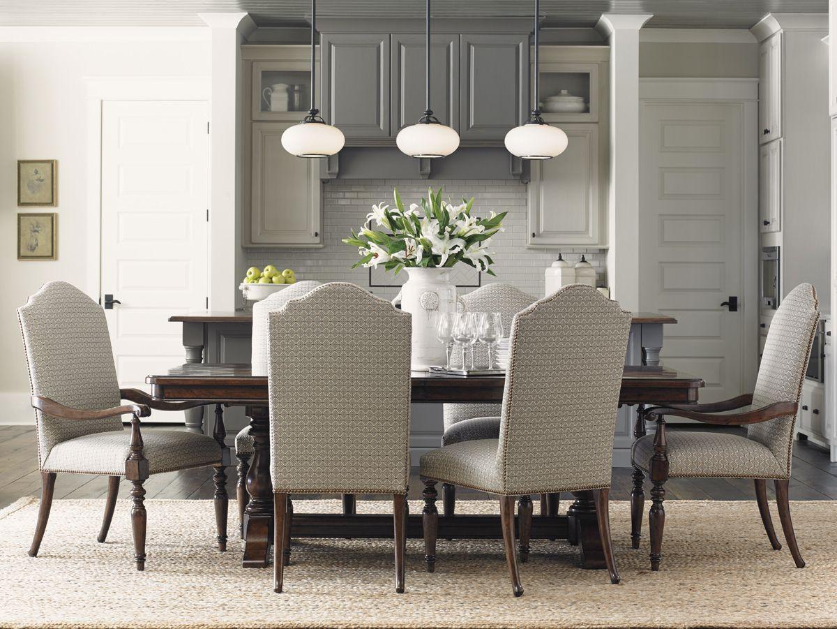 Coventry Hills Cedar Falls Rectangular Dining Table   Lexington Home Brands