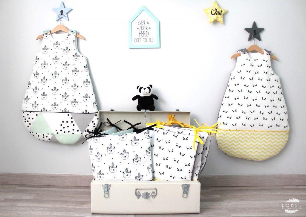 pour des jumeaux tour de lit et gigoteuse graphique et. Black Bedroom Furniture Sets. Home Design Ideas