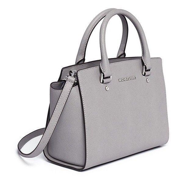 8a9d065ec947 ... closeout nwt michael kors selma medium tz satchel crossbody pearl grey leather  bag 298 189.95 177df