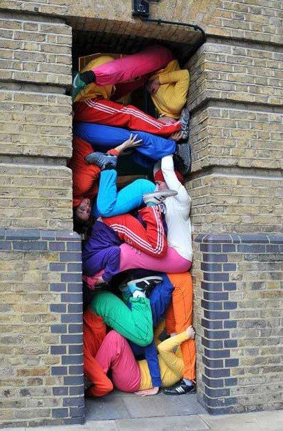 """bodies in urban spaces""   Artist: Willi Dorner"