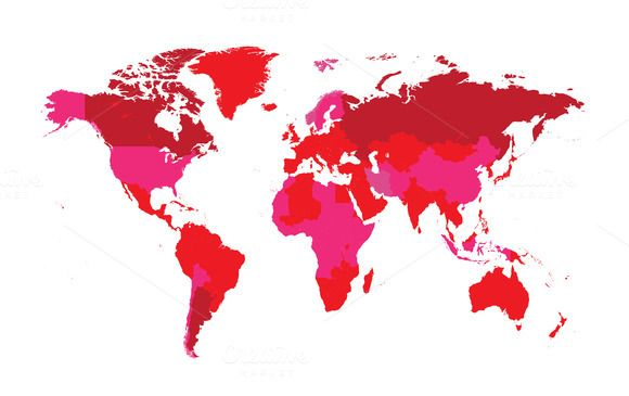 World map countries flat pink color by teagraphicdesign on world map countries flat pink color by teagraphicdesign on creativemarket gumiabroncs Image collections
