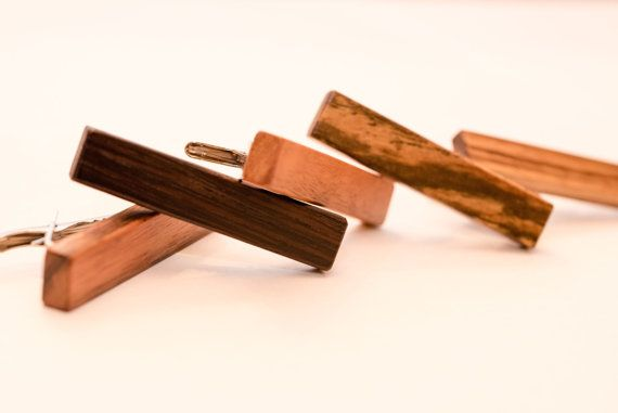 Trending  Mens  Exotic  Wood  Tie  Bar by VenutoWoodWork on Etsy. Very affordable classy gift.