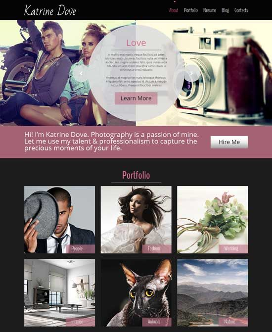 Free art photography website templates creative collaboration free premium html photography website templates are creative design and responsive layouts for any photo gallery portfolio photographer websites or any maxwellsz