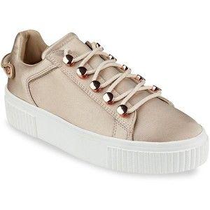24b4bc02f82 KENDALL + KYLIE Rae3 Satin Platform Sneakers