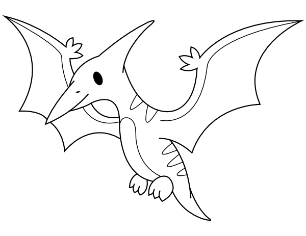 Printable Baby Pterodactyl Coloring Page Coloring Pages Free Printable Coloring Pages Pterodactyl