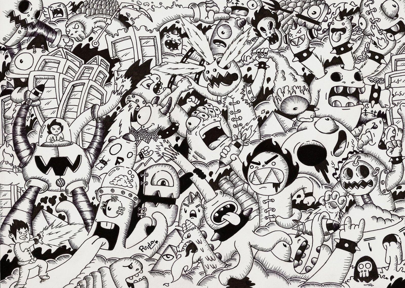 Doodle war by on deviantart for Doodle art monster