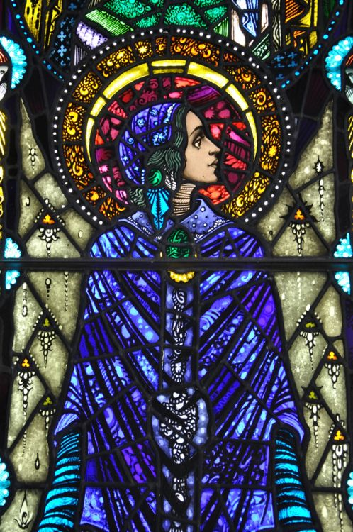 St. Mary, by Harry Clarke. In Cong, County Mayo, Ireland. Photo by Fergal of Claddagh, posted by stainedglassforever on Tumblr