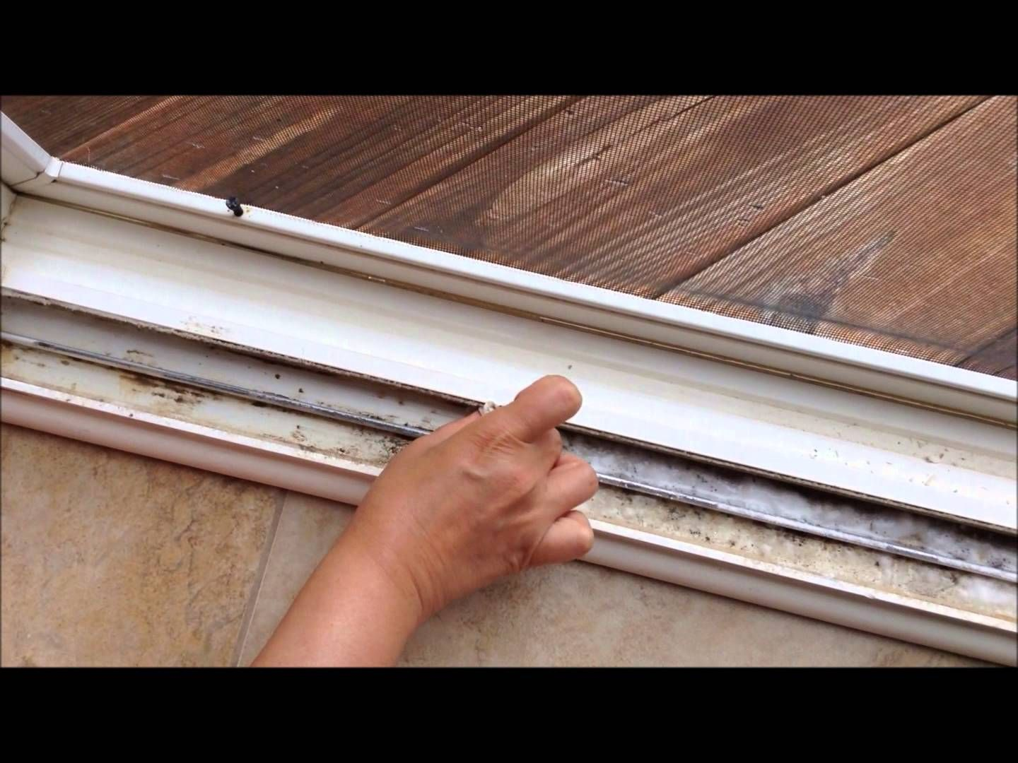 How to clean Sliding Door or Window tracks Cleaning