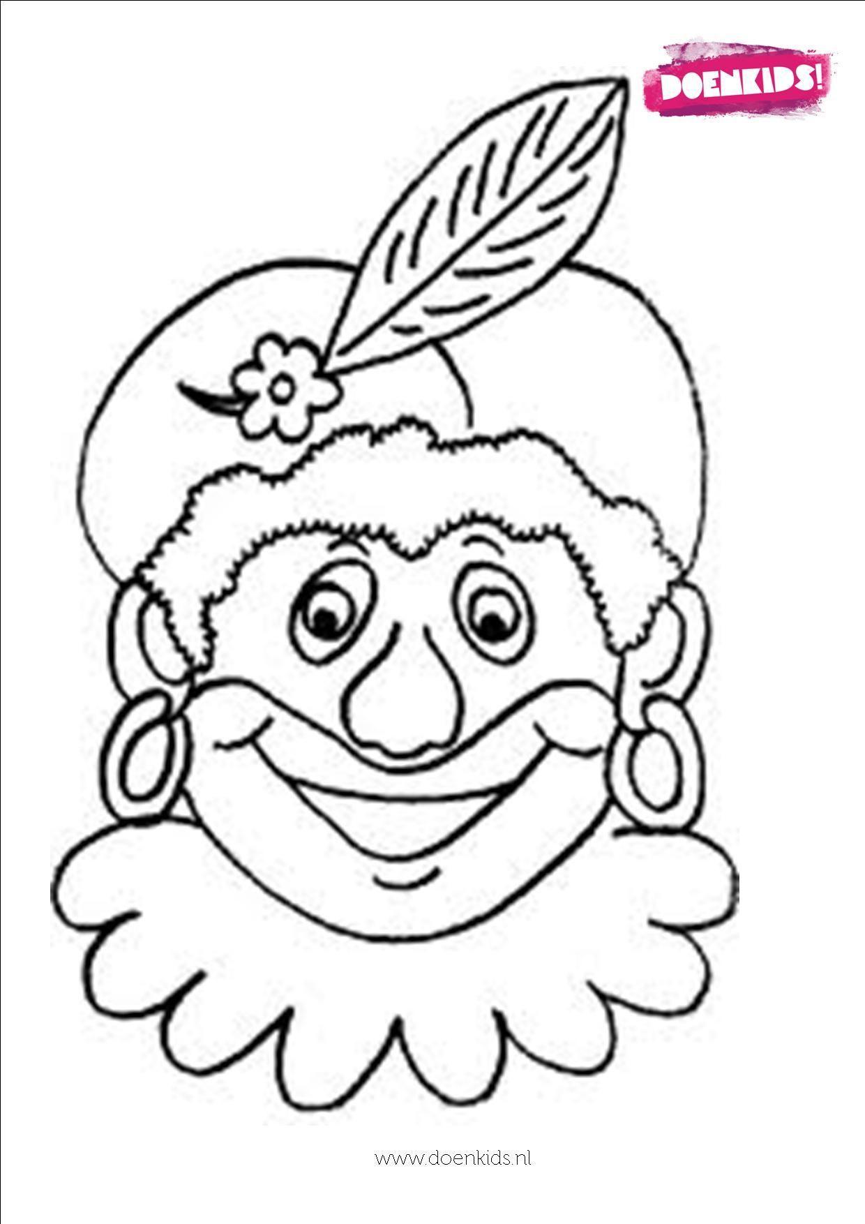 Kleurplaten Maskers Maken.Sint En Piet Masker Maken Www Activitheek Nl Coloring