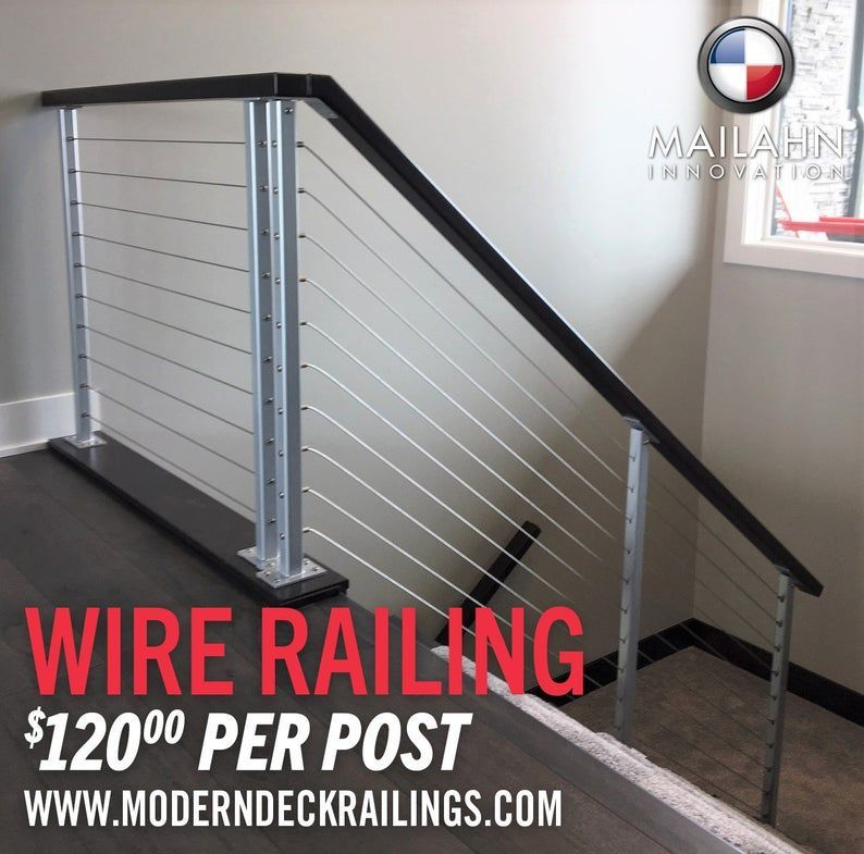 Cable Deck Railing For Sale Stainless Steel Cable Hardware Cable Deck Railing For Sale Stainless S In 2020 Cable Railing Deck Deck Railing Design Deck Railings