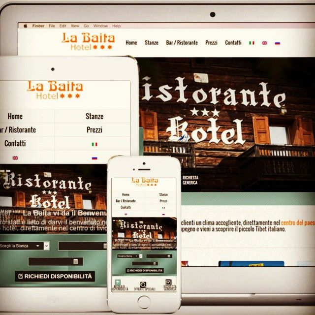 Nuovo sito web by gallweb livigno per hotel La Baita Livigno #labaitalivigno.it #gallweb #sitiweb #mobile #websites #Livigno