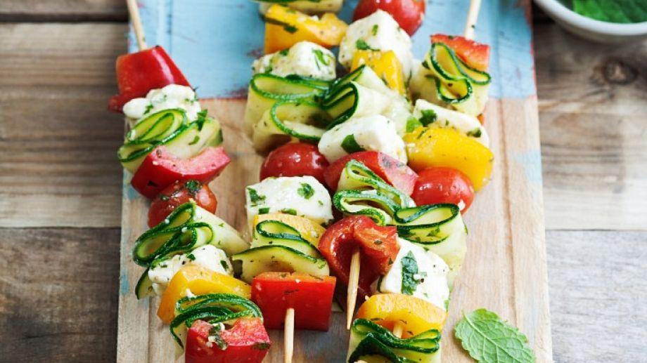 Gemüse-Käsespieße Recept Pinterest