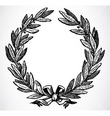 Olive Leaf Wreath Vector Image On Vectorstock Olive Wreath Wreath Drawing Laurel Wreath