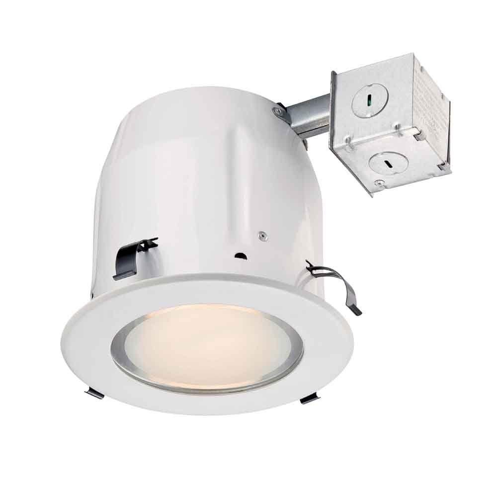 Commercial Electric 5 In White Recessed Shower Kit Recessed Lighting Kits Shower Kits Shower Lighting