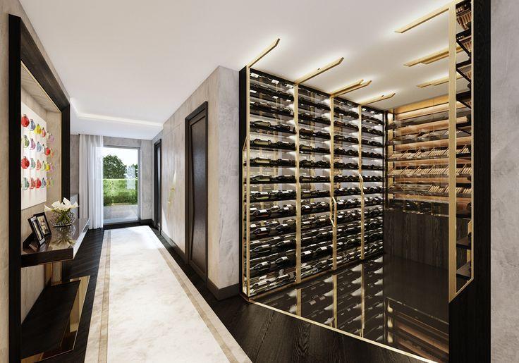 Wine Room Off Hallway In Apartment Wineroom Luxury Interior