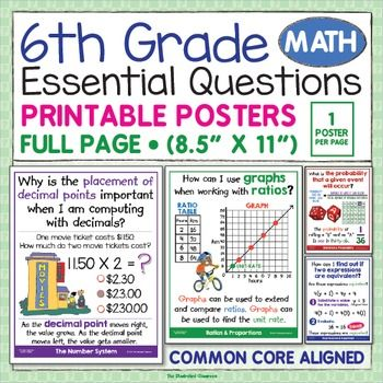 It's just a graphic of Obsessed 6th Grade Math Placement Test Printable