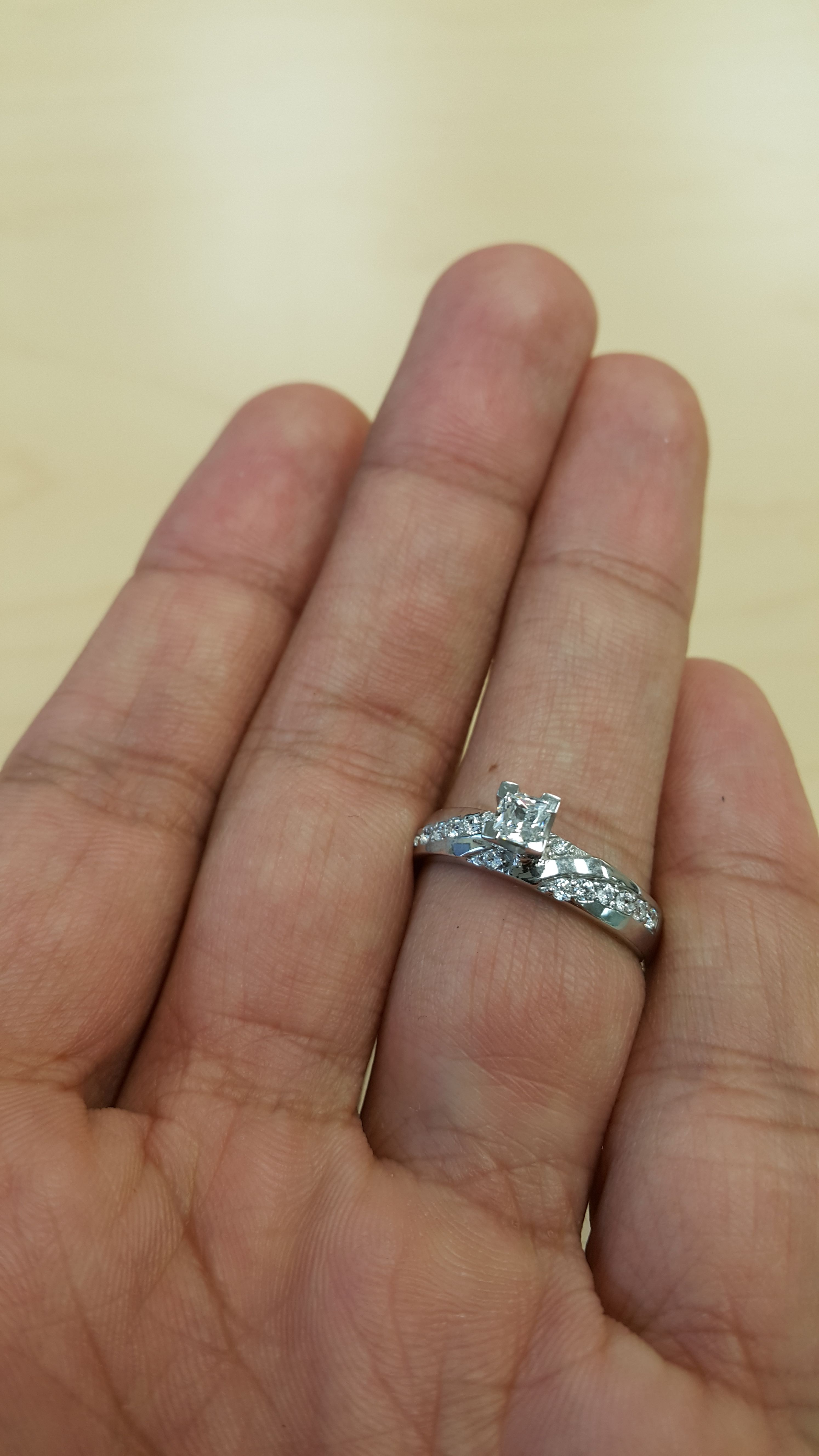 Rings on Hand Engagement Ring BT168WE Wedding ring