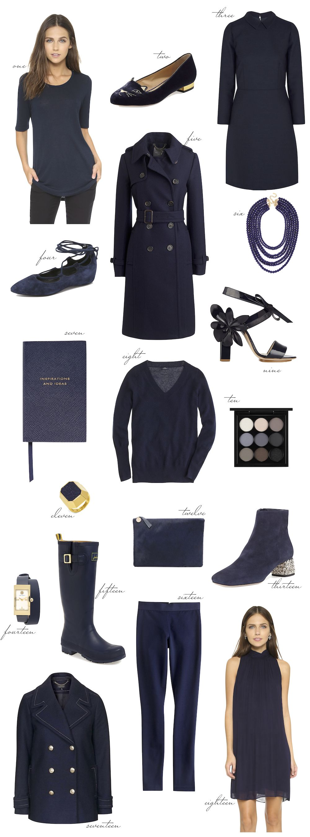 navy blue for fall - the stripe.