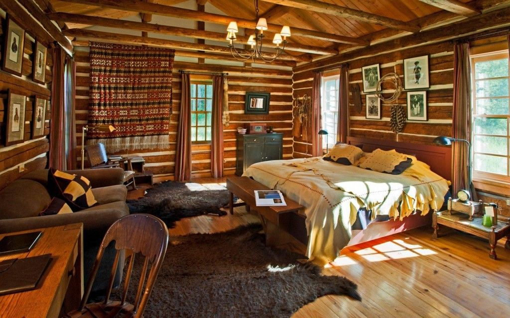 Log cabin interiors designs MY FUTURE CABIN Pinterest Cabin