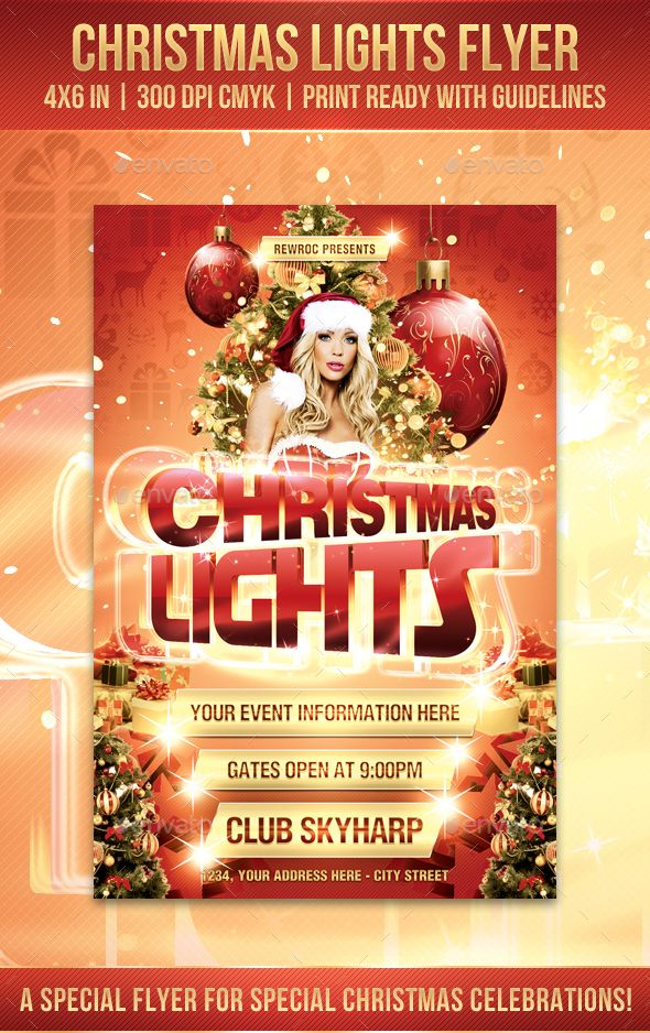 Christmas Lights Flyer  Christmas Lights Christmas Flyer And