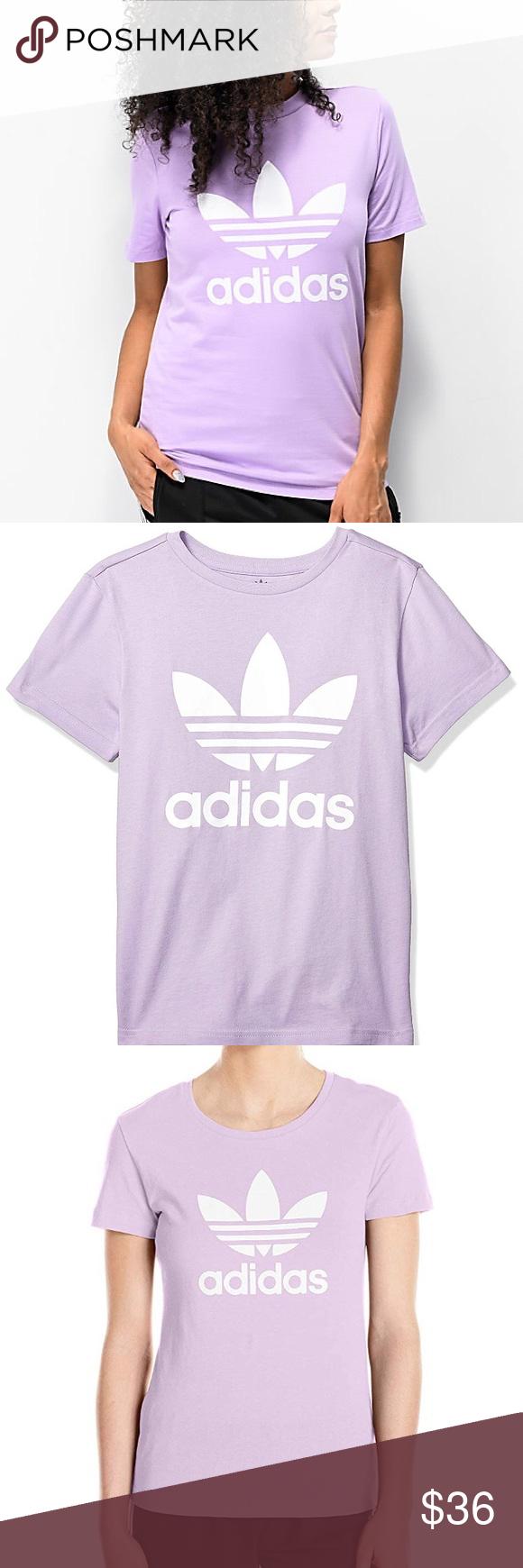 Adidas Originals Trefoil T Shirt Lavender Tee Adidas Originals Clothes Design Shirts [ 1740 x 580 Pixel ]