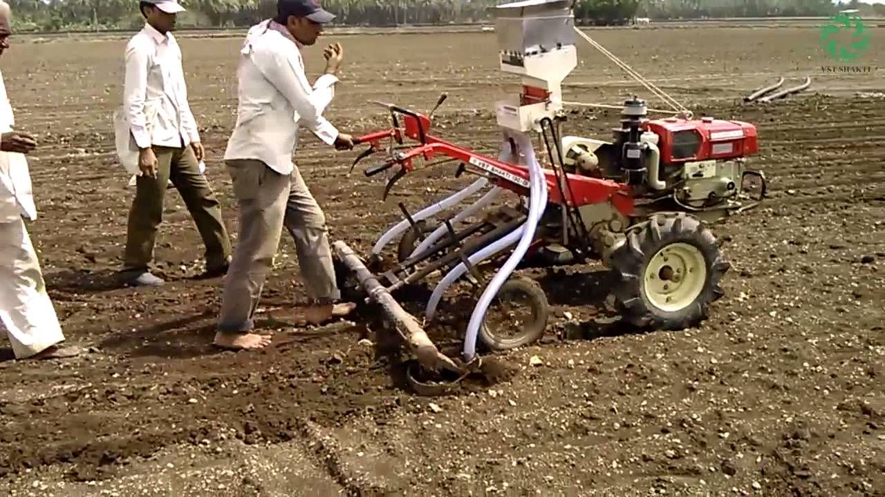 Sowing Operation with the help of VST Shakti Tractor | Equipments ...