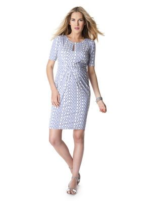 0d8e5908fe0 Seraphine Elbow Sleeve Twist Front Maternity Dress
