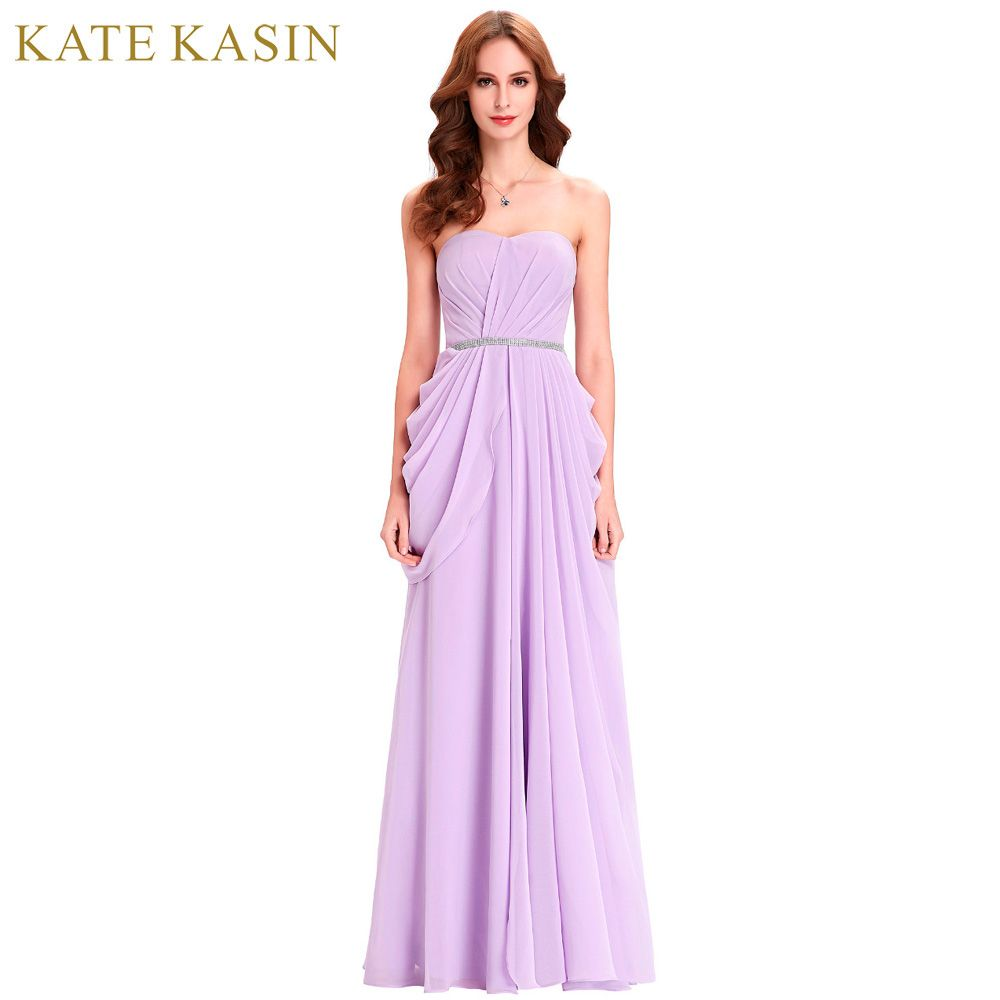 ==> [Free Shipping] Buy Best Kate Kasin Lavender Bridesmaid Dresses Long Chiffon Dress Floor Length Bruidsmeisjes Jurk Wedding Party Purple Bridesmaid Dress Online with LOWEST Price | 32717563465