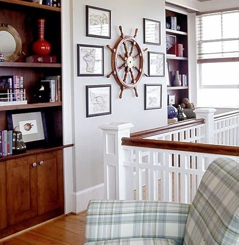 12 Ship Wheel Wall Decor Ideas With Images Coastal Wall Decor Unique Gallery Wall Ship Wheel Decor