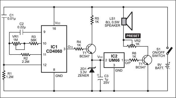 timer with musical alarm