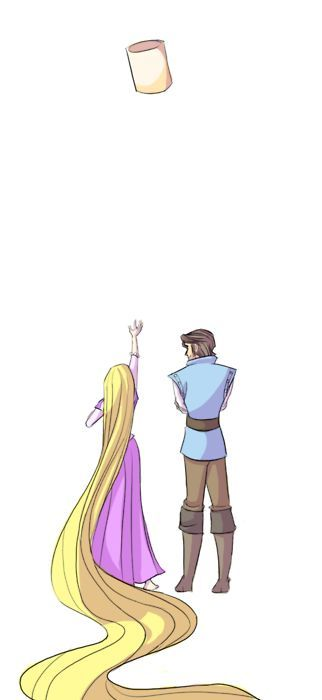 Rapunzel and Flynn - Tangled