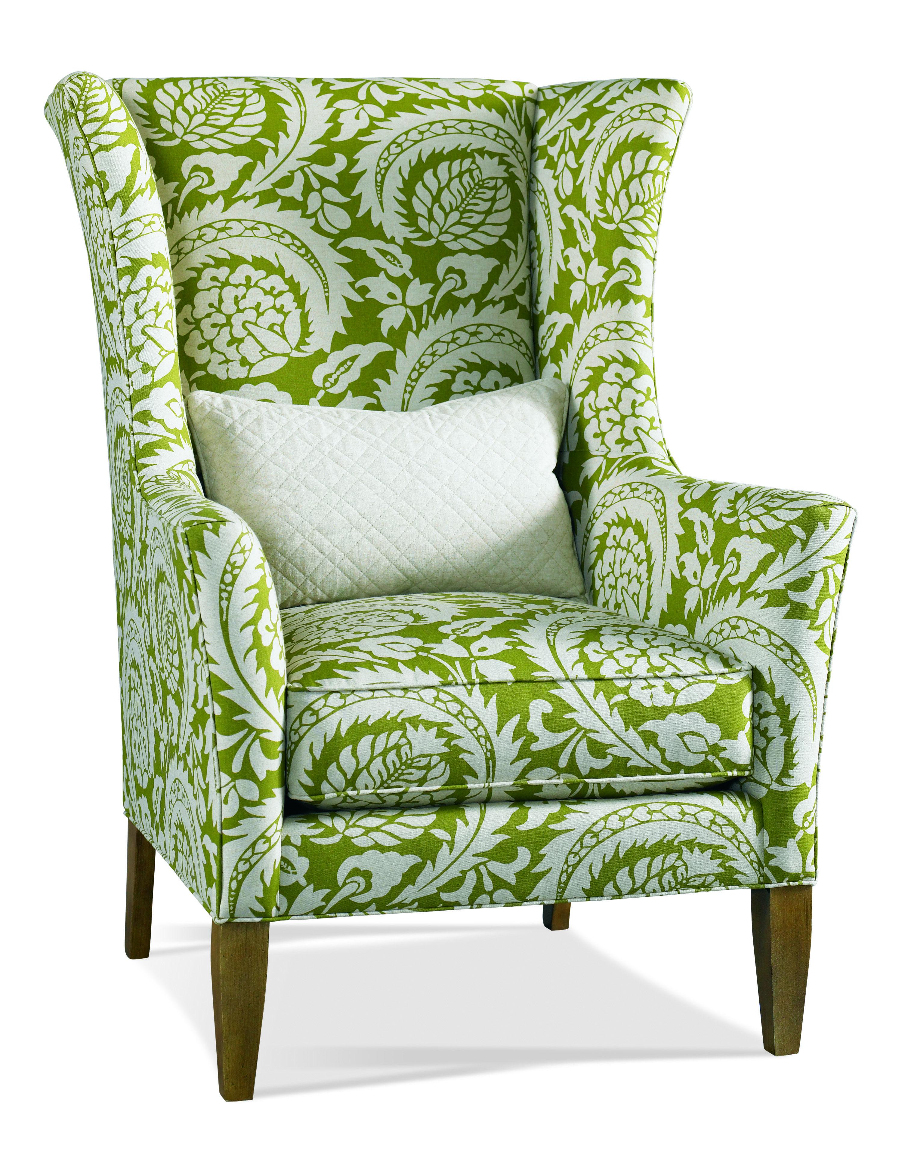 This Hickory White fully upholstered chair wjtb kidney