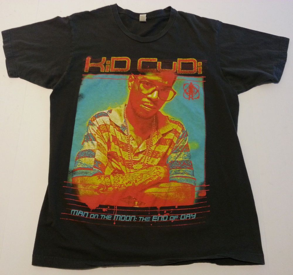 30ba3ad6 Adult L Kid Cudi T Shirt Man on the Moon End of Day Concert Tour CD Rap Hip  Hop #GraphicTee