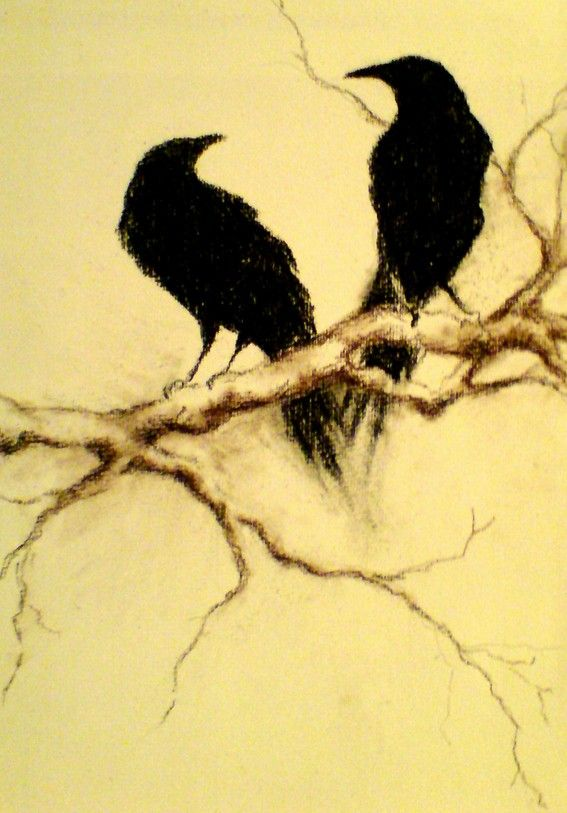 paintings of crows and ravens